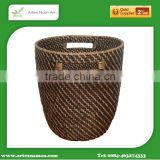 Best selling Round brown rattan basket with carry handles /High quality storage basket, laundry basket Artex Nam An