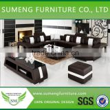 Casa italian design half round sectional leather sofa.half moon sofa
