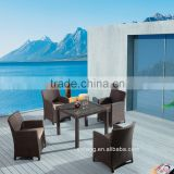 Shunde furniture factory outdoor wicker material dining table set                                                                                                         Supplier's Choice