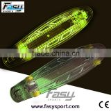 Fasy plastic light up skateboard for outdoor fun                                                                         Quality Choice