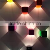 0630-1 wall-mounted lighting system colored aluminium cubes outward triangular light full 360 degree rotations wall lamp