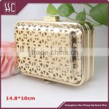 square metal bag flat closure box clutch clip frame