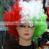 Brazil World Cup wig Fan's Wig Colorful Soft Best Synthetic Braiding Hair World Wigs