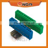 Din Rail Terminal Block Distribution Connector With Copper Earthing Bar