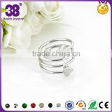 Newly design silver gold plated heart screw gold wedding rings