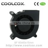 CoolCox 6015 blower fan,60x60x15mm turbo fan,12 volt /24 volt 6cm DC fan blower,sleeve and ball bearing for option