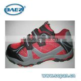 2016 good quality low cut pu mesh tpr out sole children hiking shoes new