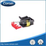 DJ7031-1.5-21 3 pin black waterproof plastic female connector 282087-1 for aumotive application wire harness