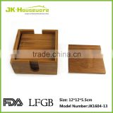 bamboo cup coaster with box