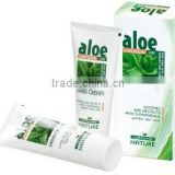 Hand Cream Aloe Vera Soothes and Protects with D-Panthenol Perfect Skin Care - 75ml. Paraben Free. Made in EU. Private Label