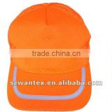 ANSI fluorescent orange distressed baseball safety protective cap