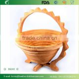 BK002/Eco-friendly folding bamboo fruit basket, teapot shape fruit basket for household appliance