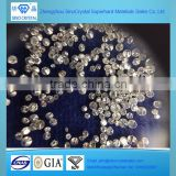Round brilliant cut white loose diamond HPHT CVD 0.01 carat diamond