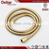 Gold shower hose extension, shower flexible stainless steel hose, 1.5m hot water flexible hose