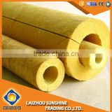 Lightweight thermal acoustic mineral rock wool pipe insulation