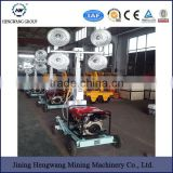 air cooled 5/6Kva 500W*4 6m height movable diesel generator Mobile trailer lighting tower/diesel light