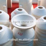 Refractory orifice rings, tubes, spouts, plungers for glass furnace gob feeder machines