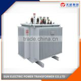 Three phases copper winding wound core low loss 10kv oil immersed power transformer manufacturer