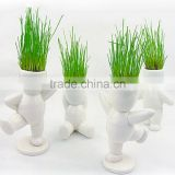 custom make plastic Cartoon Naughty Desktop Mini Plant Doll Office Green Plant