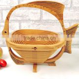 Bamboo folding basket 3 time varnish