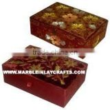 Zari Embroidery Jewelry Boxes, Embroidered Beaded Box