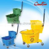 36L Large Capacity Plastic Single Mop Wringer Trolley