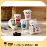 Ceramic tea cup with silicone lips