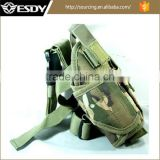 2017 Wholesale cheap Military Nylon Drop Leg Pistol Holster CP camo
