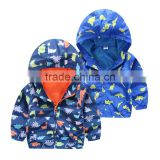 Wholesale animal printing zipper boys jacket kids clothes children