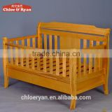 Wholesale china natural wooden baby cribs nursery furniture baby bumper bed