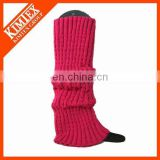 Ladies acrylic knit wholesale leg warmers