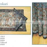 Block Printed Kalamkari Tablecloth , Napkin & Placemat
