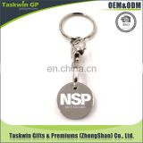 promotional personalized custom coin for supermarket trolley,trolley coin keyring/keychain