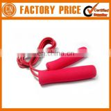 High Quality Rubber Skipping Fit Jump Rope With Foam Handle Custom Color Welcomed