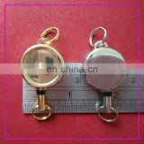 circular chrome plated metal retractable badge holder