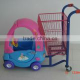 baby shopping cart with children seat