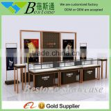 Luxury stanless steel glass tower showcase watch display furniture