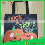 Fancy TRICK OR TREAT Gift Non-Woven Bags,No Gusset,Matt Lamination,10''x12'' Eco Friendly Halloween Gift Bag Non Woven Bags
