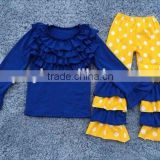 hot sale toddler girls persnickety sets fall children long sleeve with bibs and ruffle pants clothing girl boutique outfits 2016