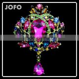 Elegant Handmade Crystal Silver Plated Artificial Brooch Flower Diy Brooch Bouquet