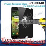Wholesale Privacy Cell Phone Tempered Glass Screen Protectors For LG G Pro Lite D680 Smart Mobile Phone