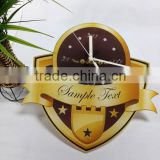 UV Oil 4C Printing Badge Decorative Acrylic Wall Clock