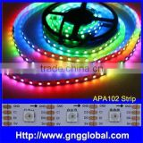 APA102 wireless led strip light, 60LEDs/m with 60pcs WS2801 IC built-in the 5050 SMD RGB LED Chip