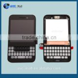 china supplier LCD touch screen and digitizer assembly with frame for Blackberry Smartphone Q5 black