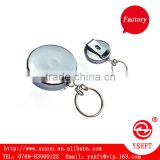 metal retractable key chains with big belt clip for business