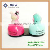 cute cartoon animal plastic double box glasses case eyewear case,storage box, display case
