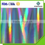 Good corona treated holographic rainbow film for printing lamination, seamless rainbow film