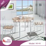 Foshan furniture wood dinner table designs 4 seater model restaurant round dining table set
