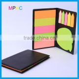 Customized colorful sticky notepad apple shaped sticky notes leather holder