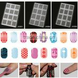 2016 Nail Art Beauty Salon Nail Art Vinyl Reusable Nail Stencil Designs Template for Nail Foil Paper JV